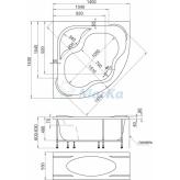 акриловая ванна 1 марка афродита